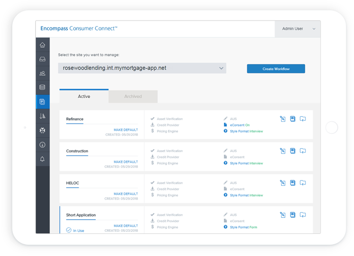 Direct Lender Loans >> Encompass Consumer Connect | Ellie Mae