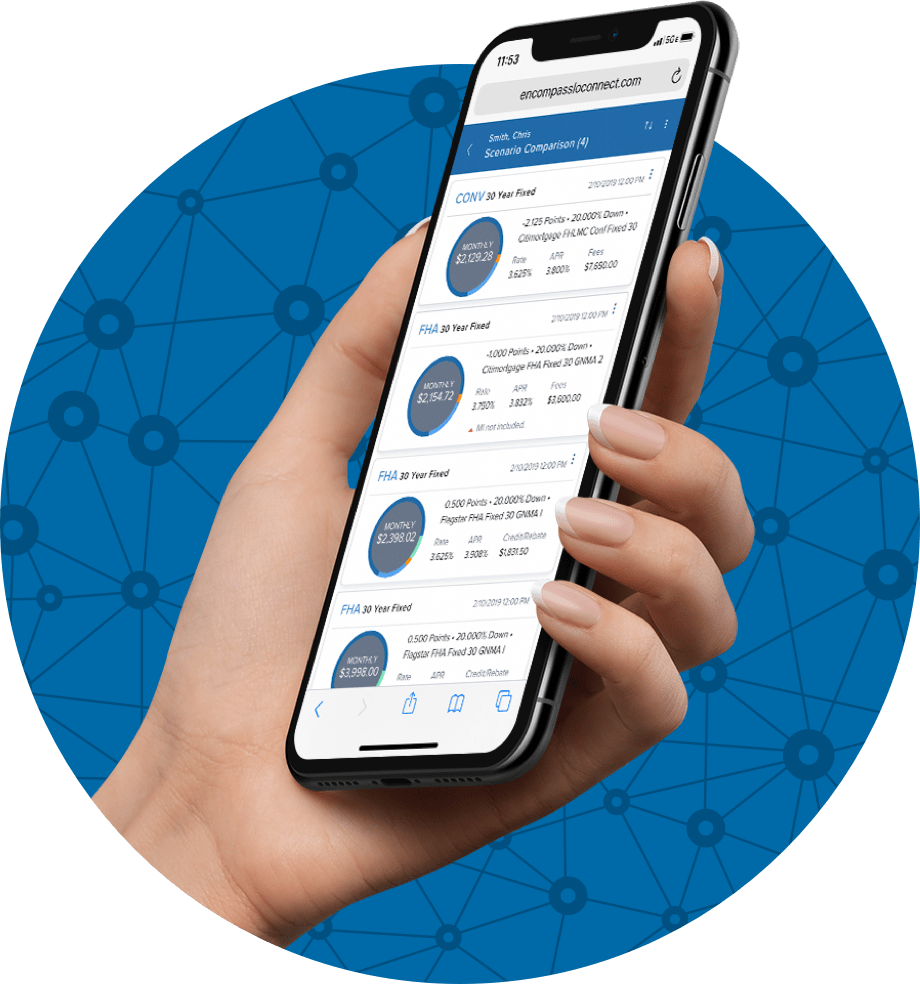 Encompass LO Connect - The Encompass mobile solutions for LOs on the go™